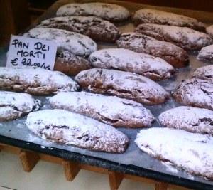 Desserts in a shop window