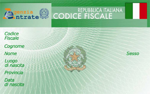 Example of Italian fiscal code