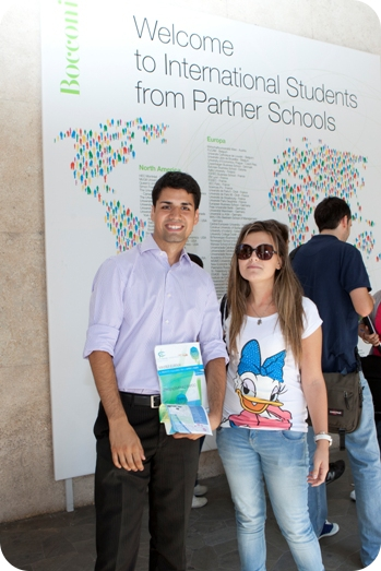 International students at Bocconi