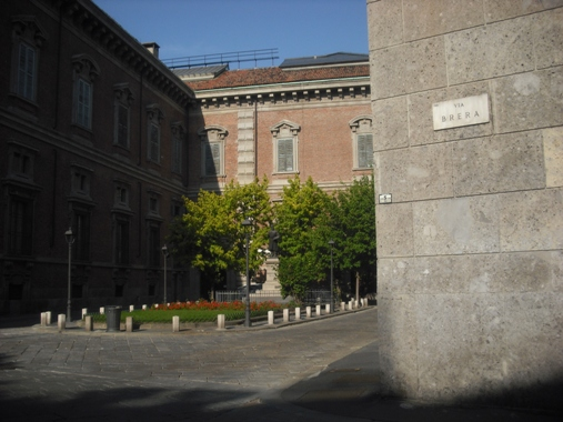 Outside Brera