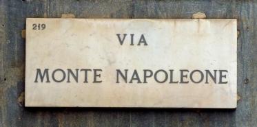 Via Monte Napoleone street sign