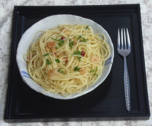 Plate of spaghetti and fork