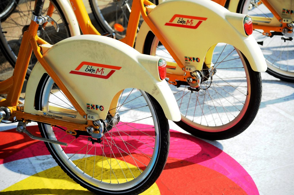 Public bikes with Expo logo