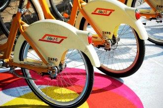 Public bikes with Expo logo