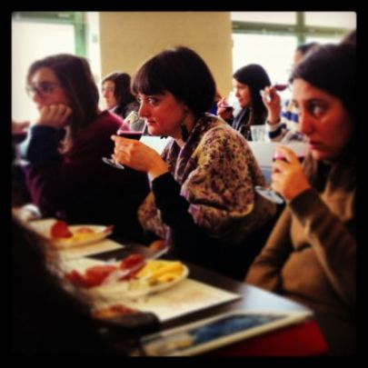 Bocconi students tasting wine