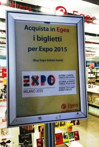 Egea sign for Expo tickets