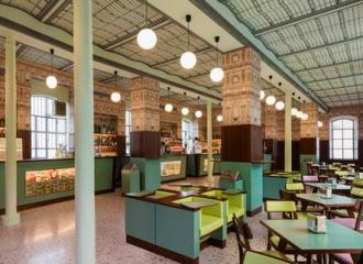 Empty cafe interior