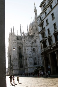 Side view of Duomo cathedral