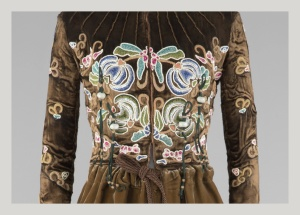Bodice of embroidered garment