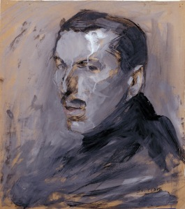 Self-portrait of Boccioni, 1909