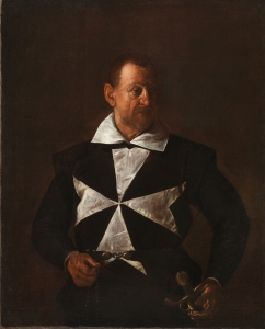 Portrait of Malta Knight by Caravaggio
