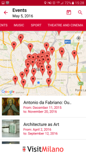 Map view of events